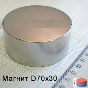 Магнит неодимовый 70х30 мм 160кг